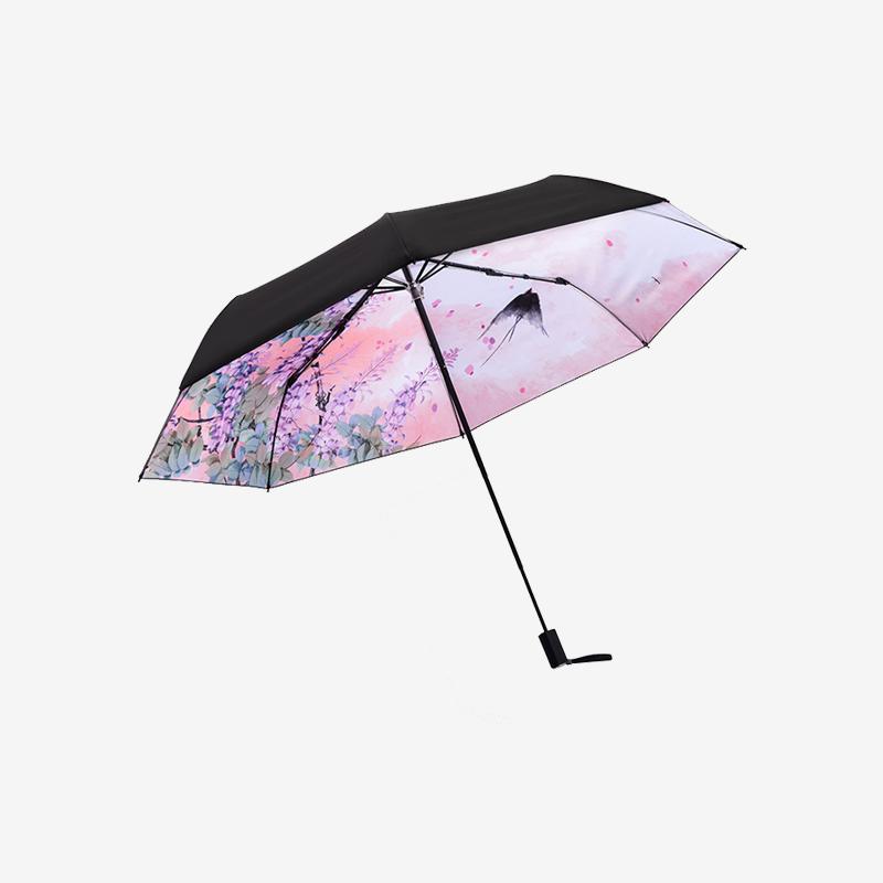 DIY定制小黑伞创意个性设计