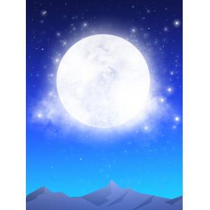 手绘中秋圆月