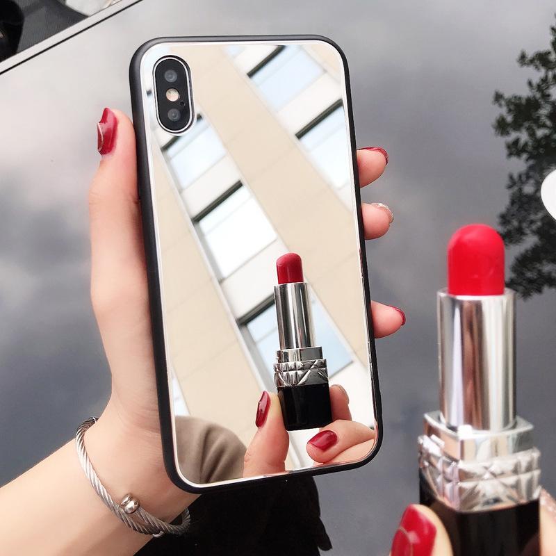 网红同款iPhonex玻璃手机壳苹果8镜子面i7plus