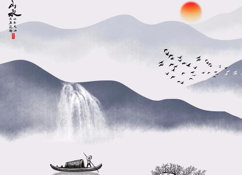 山水墨画1