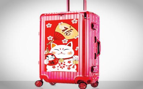 个性行李箱图片,定制的行李箱用什么图案好
