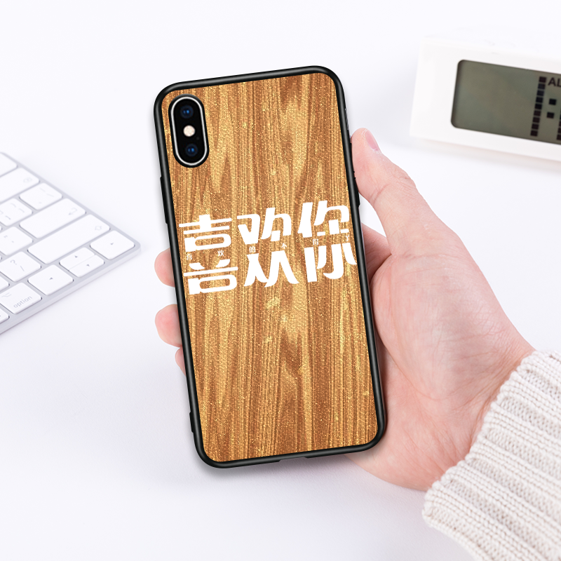 新款 定制iPhone系列手机壳 原木纹雕刻壳