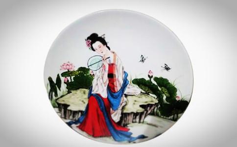 手绘瓷盘画的步骤,如何手绘青花瓷盘画