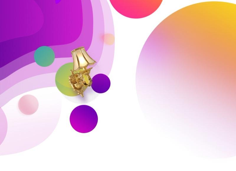 紫色圆圈泡沫背景