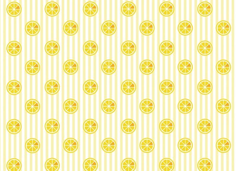 小清新柠檬背景