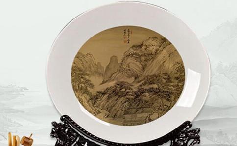 手绘瓷盘画介绍,瓷盘画刻字写什么好看