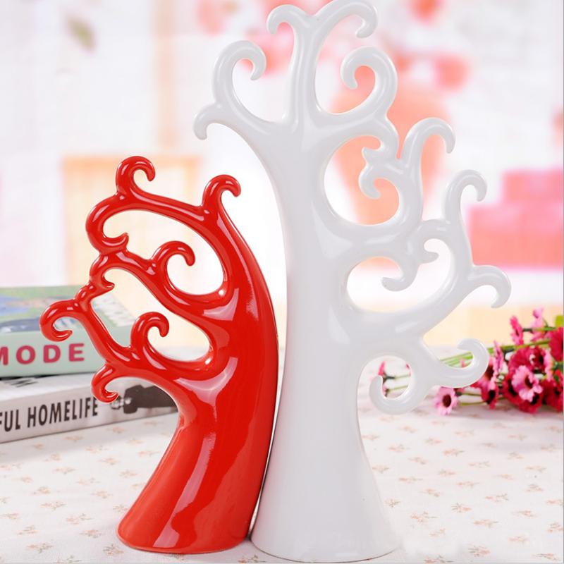 爱情树现代家装饰品 客厅新房摆件陶瓷工艺品