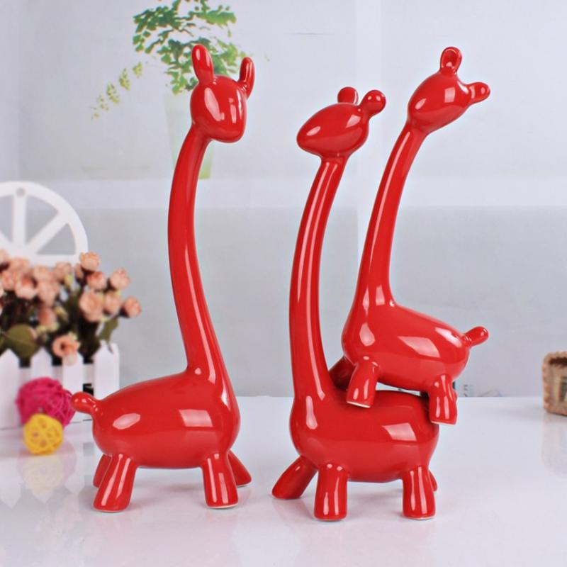 长颈鹿个性家居摆件 现代家居陶瓷摆件系列