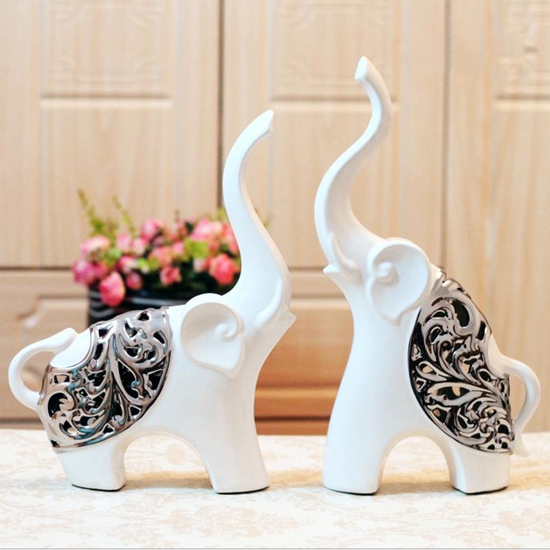 新款情侣大象 现代创意家居陶瓷摆件家居饰品装饰品结婚礼物