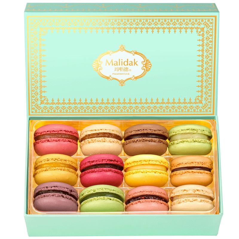 玛呖德马卡龙甜点礼盒装12枚法式糕点送礼情人节礼物甜品零食