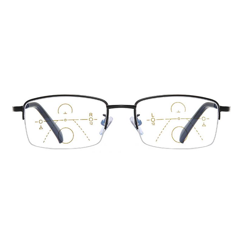 【酷定吧】超轻远近两用老花镜男智能变焦渐进多焦点防蓝光老花眼镜