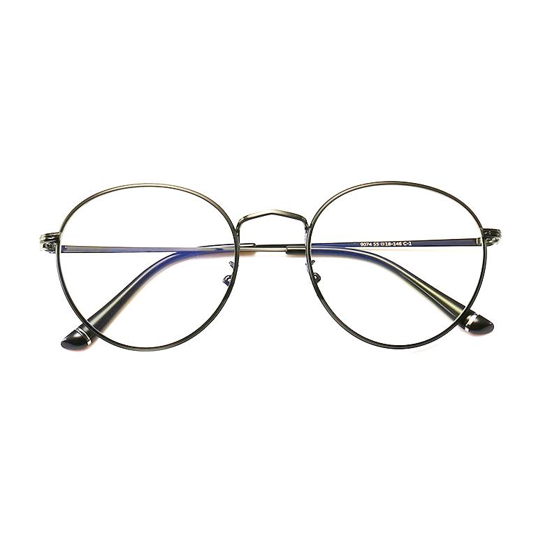 【定派】新款近视眼镜男复古金属 圆形眼镜架定制