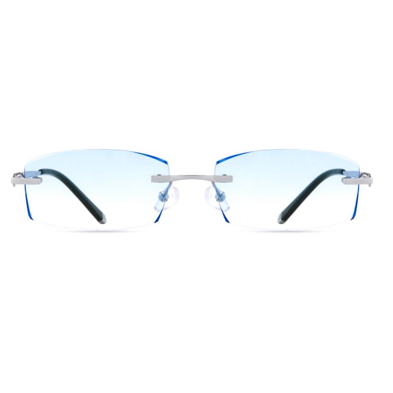 【定派】近视眼镜男女纯钛超轻无框切边眼镜架 定制眼镜