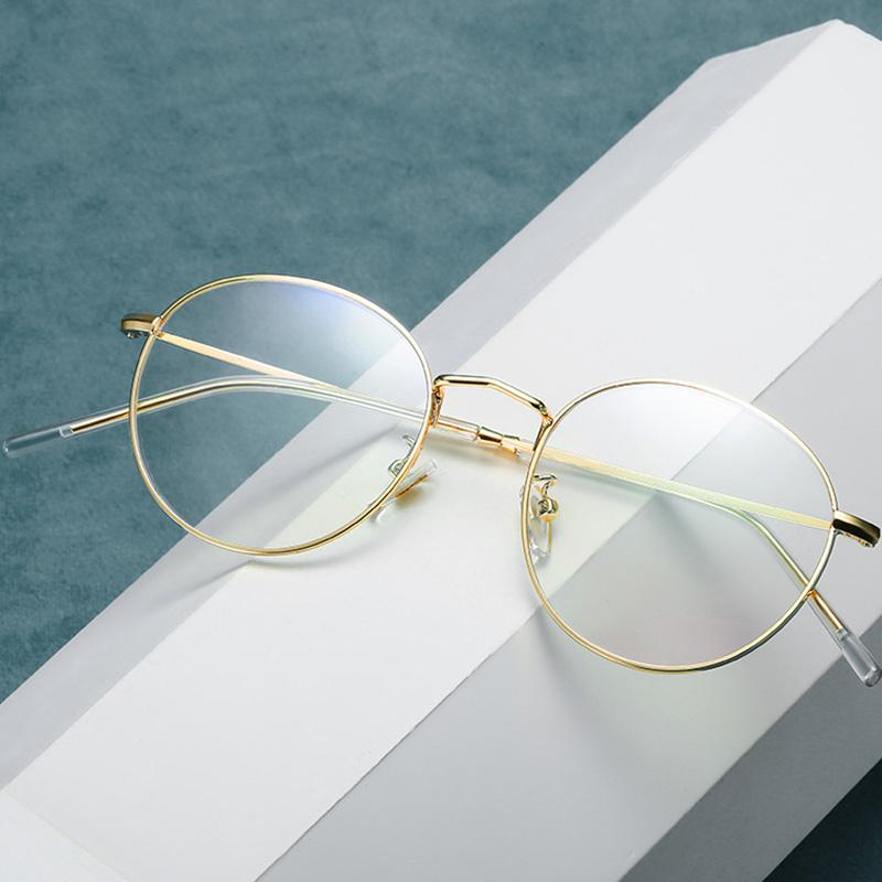 【酷定吧】复古圆框超轻记忆金属近视眼镜