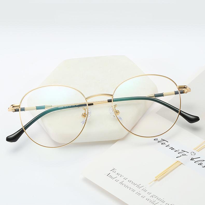 【定派】近视复古圆形金属男女眼镜定制