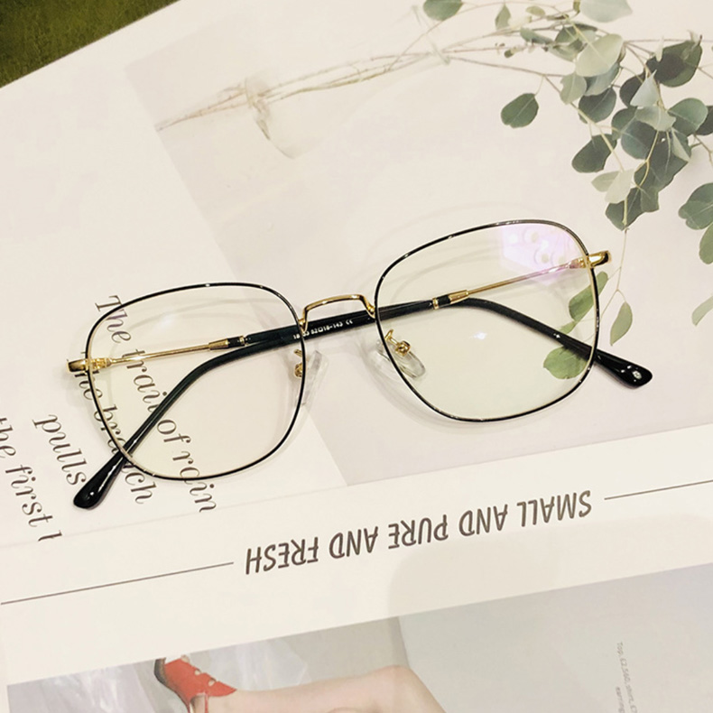 【酷定吧】近视复古金属方框眼镜定制0018