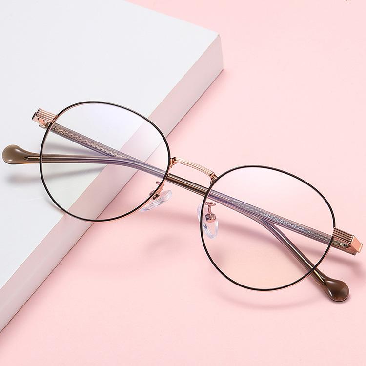 【酷定吧】0010  经典圆框女士 近视眼镜定制(含黛玛诗镜片)