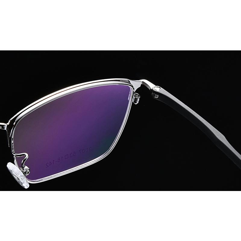【酷定吧】0001 商务男士金属半框渐进多焦点老花眼镜定制