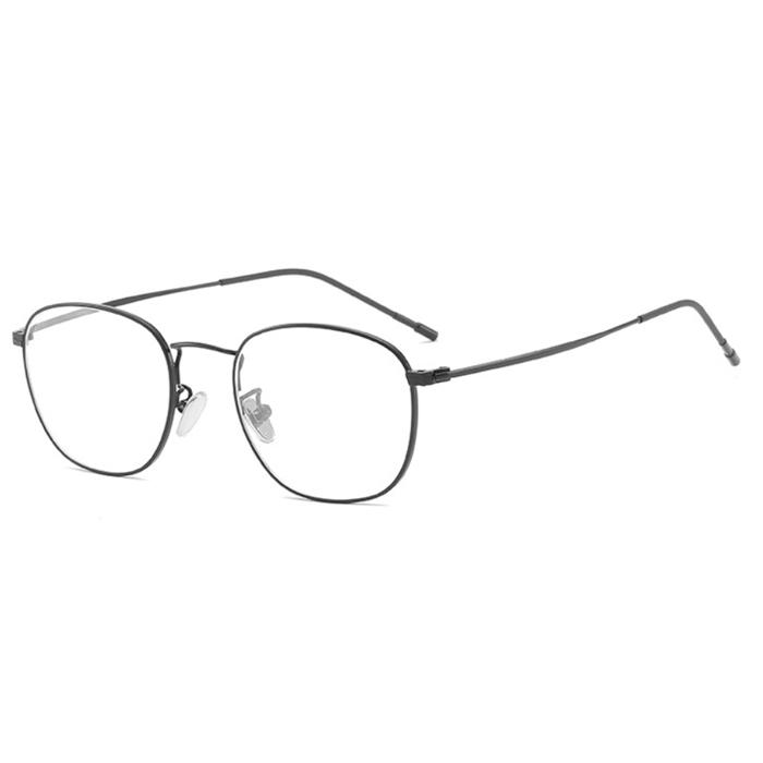 【酷定吧】 0070  时尚金属圆框防蓝光视眼镜定制 飞视镜片