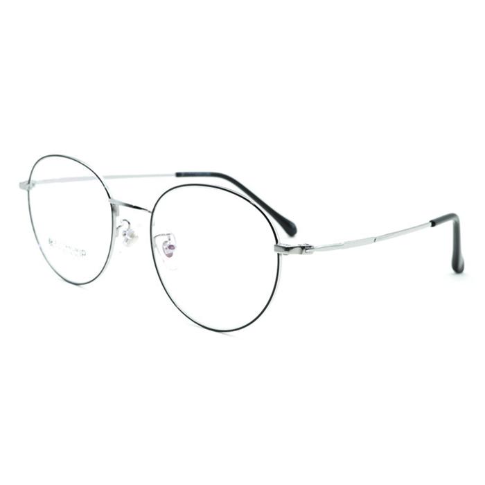 【酷定吧】 0071 超轻合金经典圆框近视眼镜定制  飞视镜片