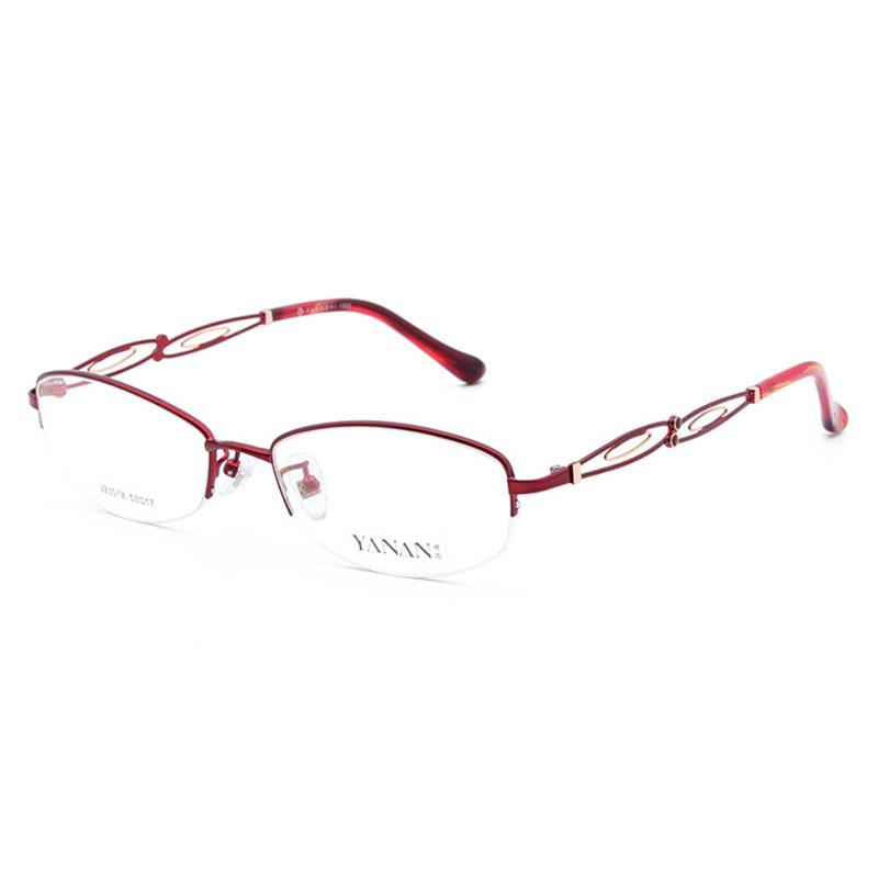 【酷定吧】0087 女士商务金属半框近视眼镜定制(含镜片)