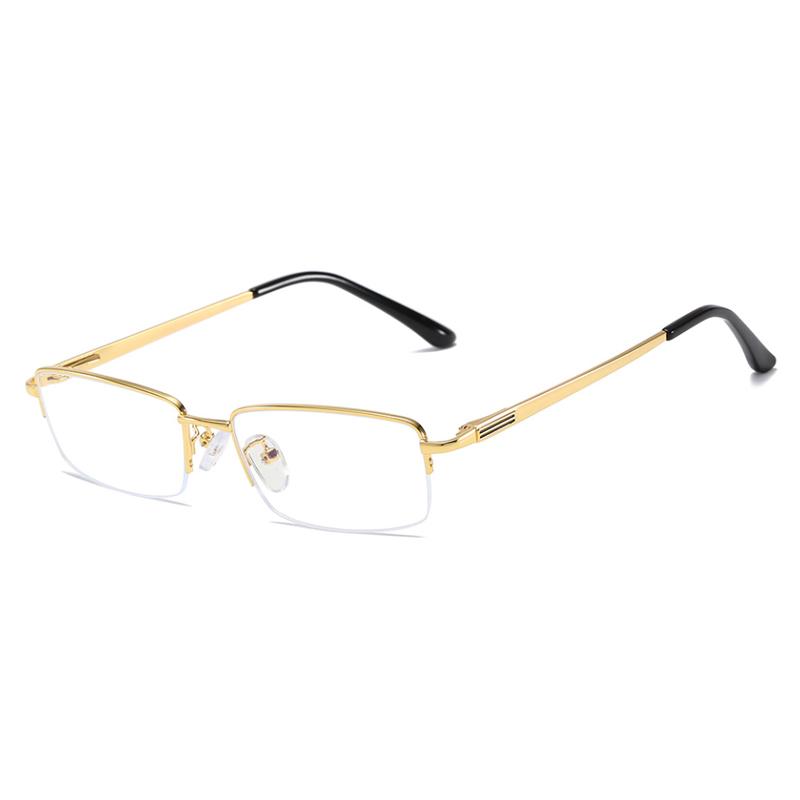 【酷定吧】商务半框眼镜金属镜框(含镜片)0088