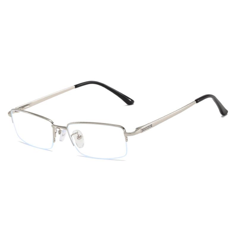 【酷定吧】0088  商务半框金属近视眼镜定制(含镜片)