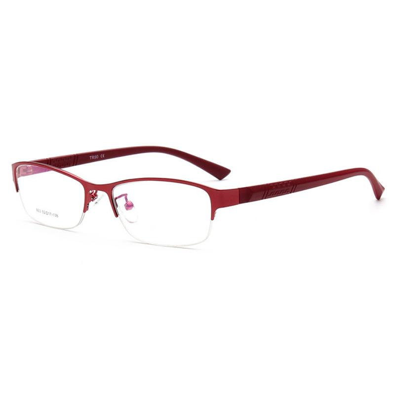 【酷定吧】半框金属眼镜架(含镜片)0091