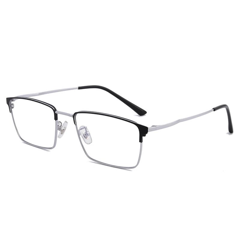 【酷定吧】 0095  豪华B钛  商务男士方框 近视多焦点眼镜定制(含镜片)