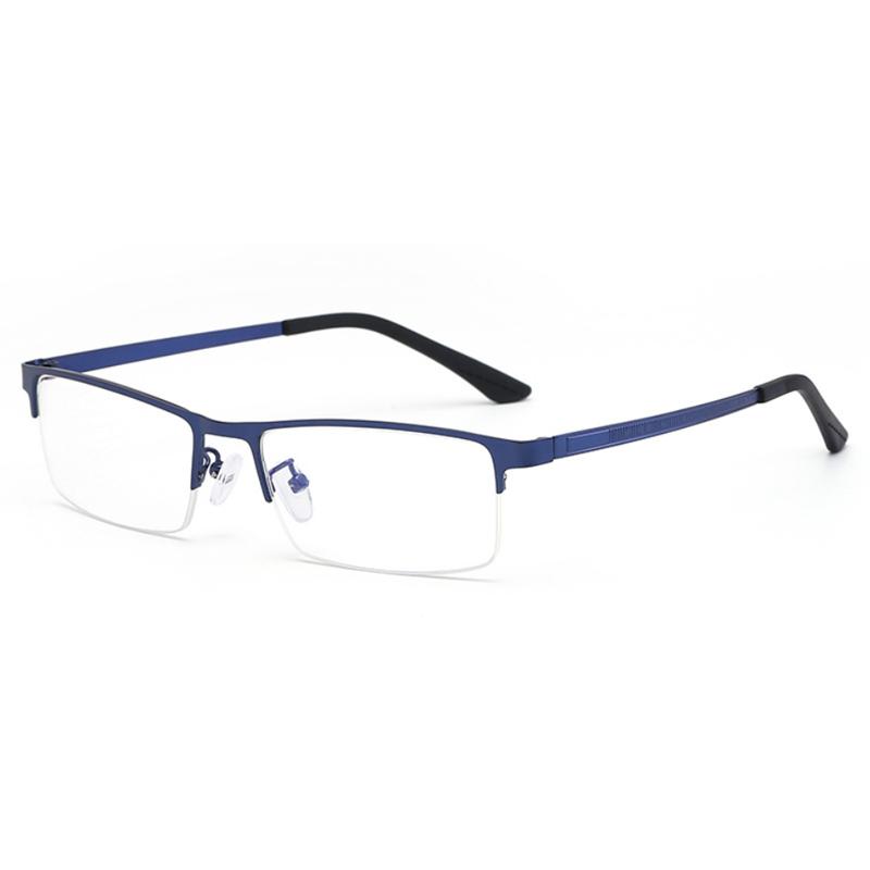 【酷定吧】 0108  轻盈金属 商务半框防蓝光  近视眼镜定制(含黛玛诗镜片)