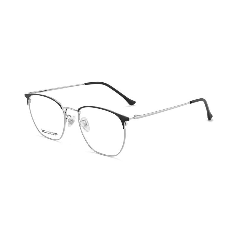 【酷定吧】 0073  豪华B钛 时尚圆框 近视眼镜定制(含黛玛诗镜片)