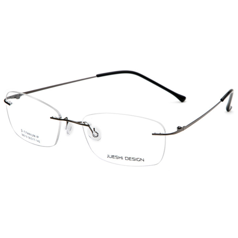 【酷定吧】0129  超轻金属无框男士近视眼镜定制(含黛玛诗镜片)