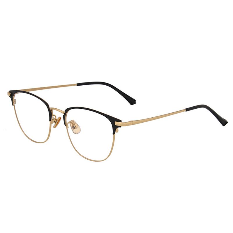 【酷定吧】 0100 豪华纯钛 超轻商务近视+内渐进多焦点眼镜定制(含镜片)