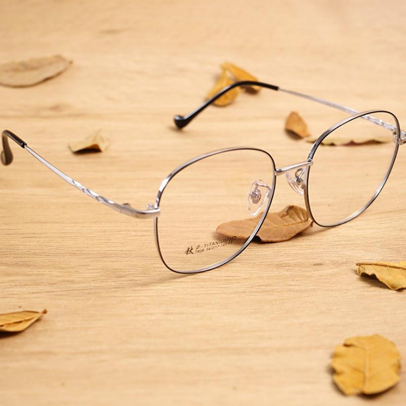 【酷定吧】0141 文艺复古β钛 超轻近视眼镜定制(明月防蓝光系列镜片)