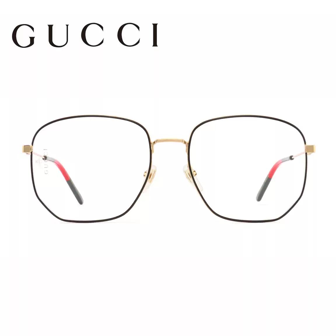 【酷定吧】0156 GUCCI古驰男女时尚大框近视眼镜定制(含黛玛诗1.61防蓝光超发水膜镜片)(品牌正品,非质量问题,不接受退换货)