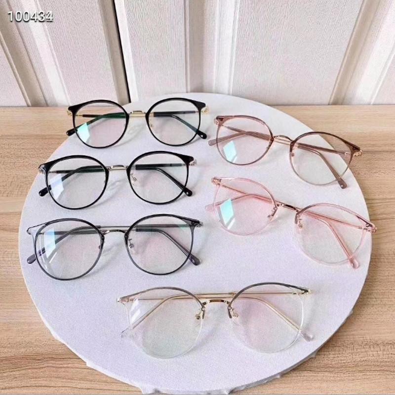 【酷定吧】0155 时尚透明TR圆框近视眼镜定制(含黛玛诗品牌树脂镜片)