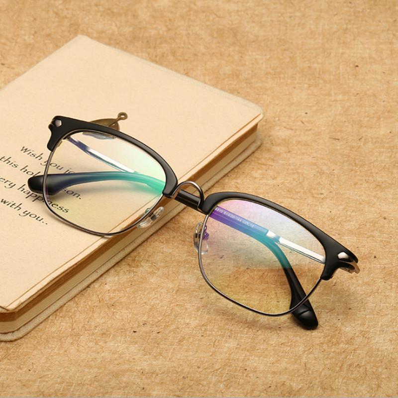 【酷定吧】0194 复古圆形全框近视眼镜定制(含明月1.56非球面镜片)