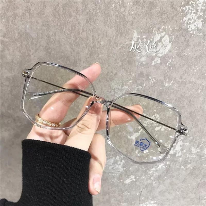 【酷定吧】0197  TR90透明ins原宿风韩版大框近视眼镜定制(明月防蓝光系列镜片)