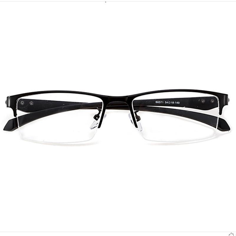 【酷定吧】0199 金属半框商务近视眼镜定制(明月防蓝光系列镜片)
