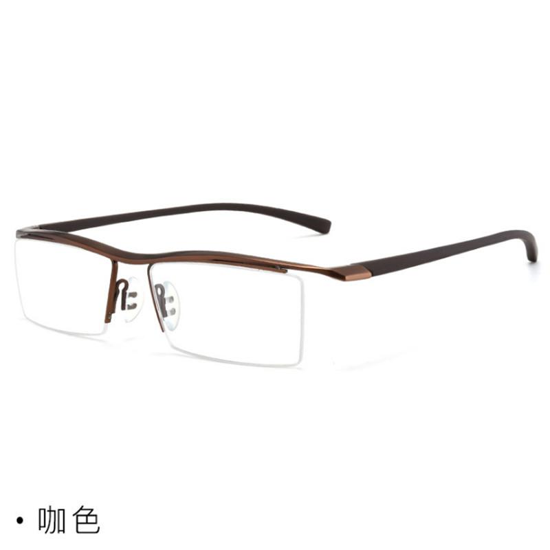 【酷定吧】0200 超轻纯钛男款半框近视眼镜定制(含黛玛诗1.56防蓝光超发水膜镜片)