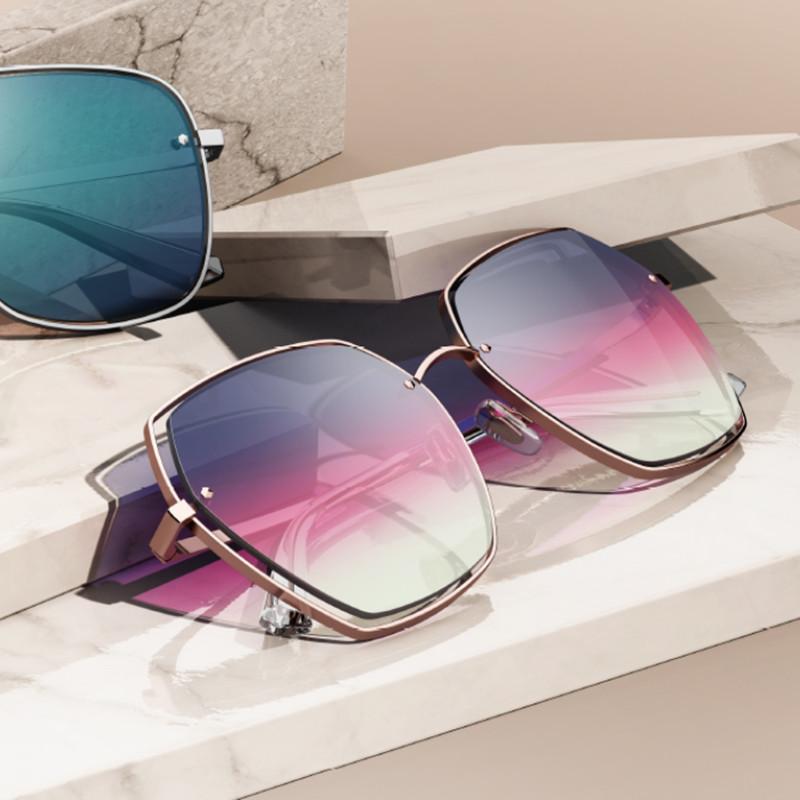 【酷定吧】暴龙BOLON太阳镜女款眼镜多边形墨镜BL7055