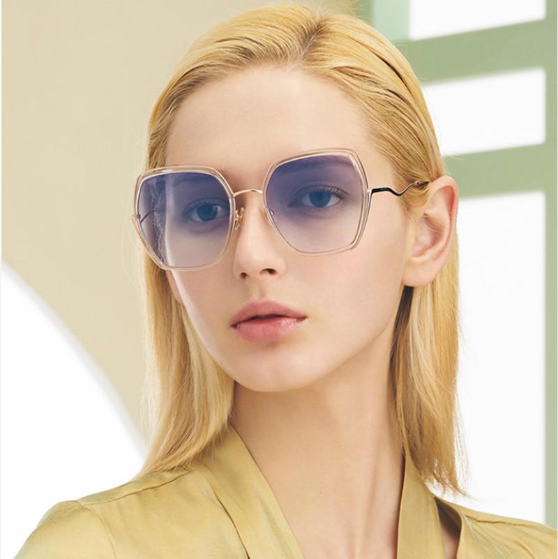 【酷定吧】暴龙太阳镜女 2020年新款偏光眼镜异型镜腿大框猫眼百搭潮流墨镜BL6089